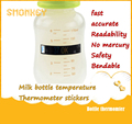 Bebé biberón de Leche Termómetro de Temperatura monitor de Prueba Tira De Papel Etiqueta de Seguridad Del Bebé Termómetros de Temperatura Medida