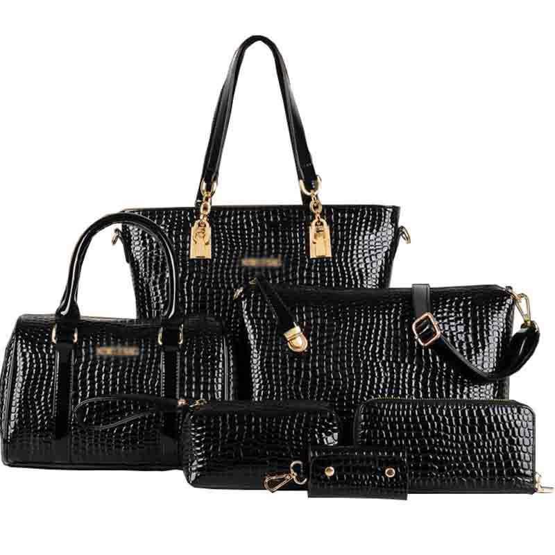 bac13809264b компл. композитный мешок для женщин сумки крокодил узор камень курьерские  Сумки