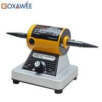 GOXAWEE 220 В полировки двигателя полировщик ювелирных скамейка полировщик 10000 об./мин. мини полировальная машина для украшения цвета: золотисты