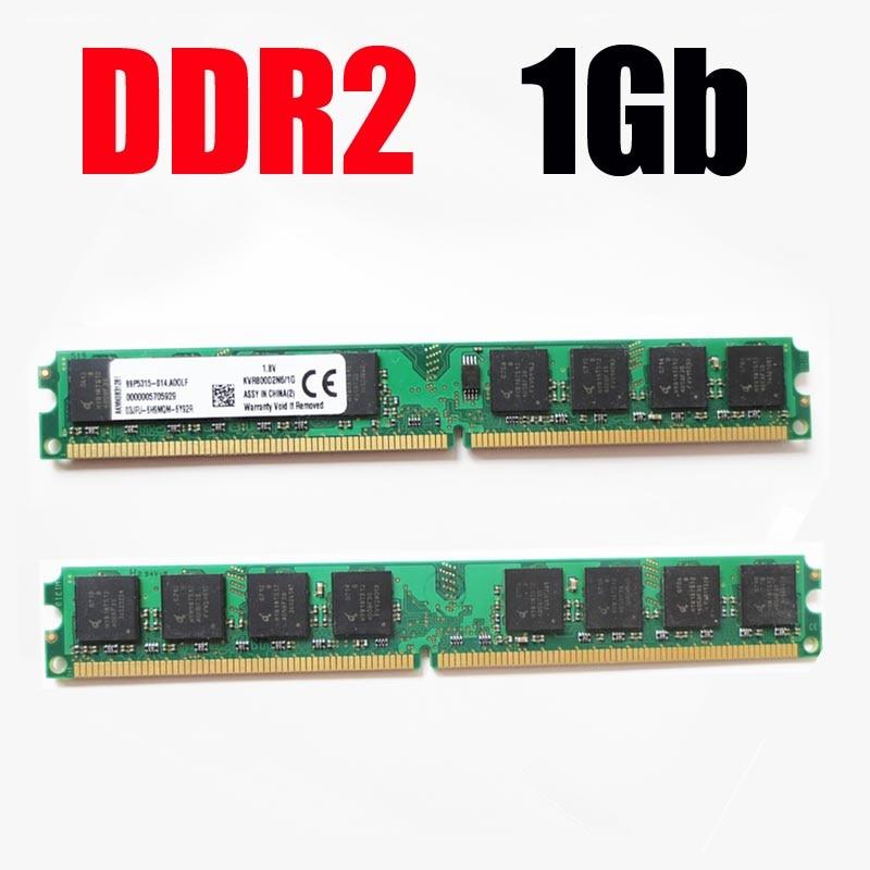 memoria ram ddr2 1Gb 800Mhz 667Mhz 533Mhz / dimm 1G 800 ddr2 667 533 - garantie à vie - bonne qualité 2Gb 4Gb