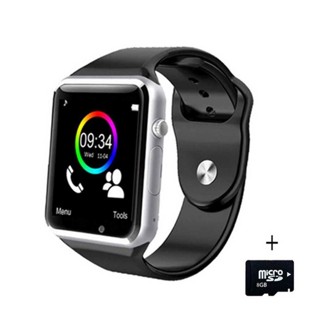A1 Orologio Da Polso Intelligente Orologio Bluetooth di Sport Pedometro Inseguitore Sync Smartwatch Per Android Smartphone Russia T15 PK DZ09 GT08 Y1