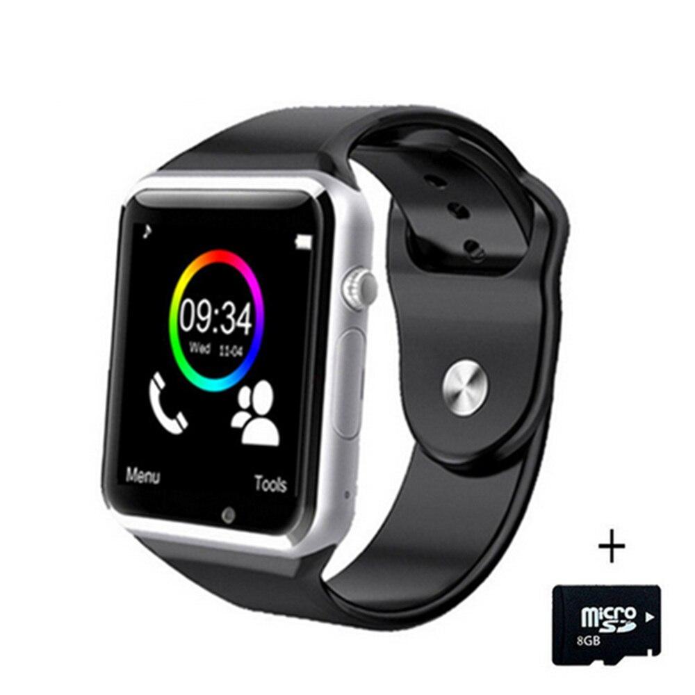 A1 Relógio De Pulso Do Bluetooth Inteligente Relógio Do Esporte Pedômetro Rastreador Smartwatch Sync Para Android Smartphones Rússia T15 PK DZ09 GT08 Y1
