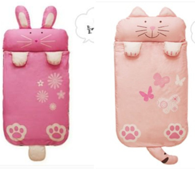 Winter Large Size Cotton Cartoon Plus Thicker Hello Kitty Children Sleeping Bags