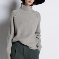 100% Cashmere Women Sweaters and Pullovers Ladies Winter Autumn Knitted Turtleneck Ladies Sweater