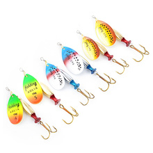 1Ps Size4-Size5 Fishing Lure Hook Spinner Spoon Lures With Mustad Treble Hooks 9cm-10cm 18g-24g Peche Jig Anzuelos WQ8103