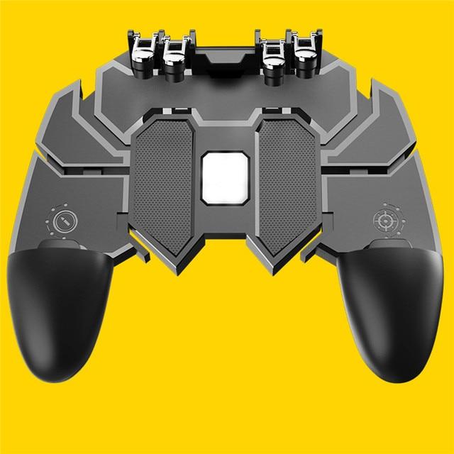 PUBG Móvel Joystick Controlador de Volume Botão Gamepad Gamepad para iOS Android Seis 6 PUBG Operacional Dedo Periféricos