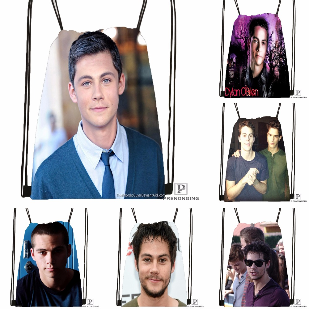 Custom Dylan O'brien Drawstring Backpack Bag Cute Daypack Kids Satchel (Black Back) 31x40cm#180531-02-56