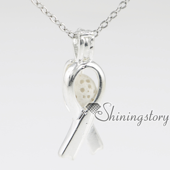 awareness ribbon charm lockets aromatherapy jewelry oil diffuser necklace diffuser jewelry wholesale best friend lockets best fr