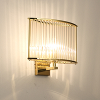 Italian design Modern Glass Wall Sconce Lights lamp for bedside Corridor Chrome Gold Sconce Wall lights for Bedroom Living room