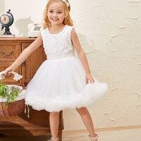 White Flower Girl Tutu Skirts Children Skirt For Girls Princess Skirt Western Party Dance Ballet Tutu Skirts Fashionable