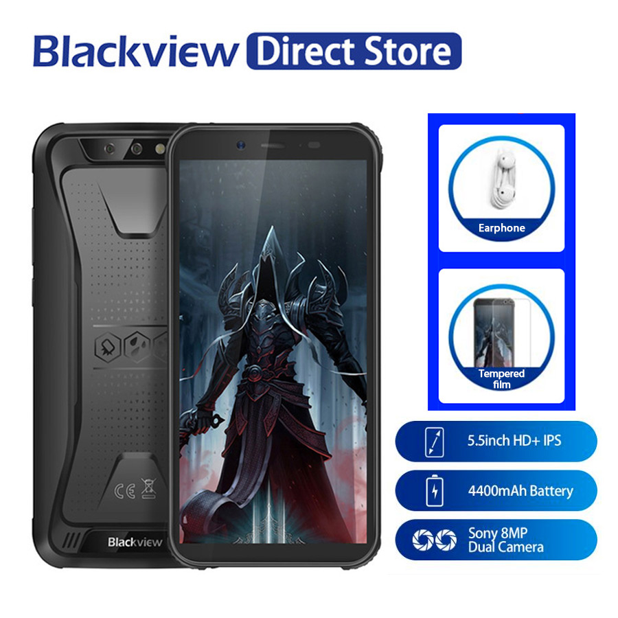 Blackview BV5500 Pro 5 5 IP68 Waterproof Rugged Outdoor Smartphone 3GB 16GB Android 8 1 4400mAh