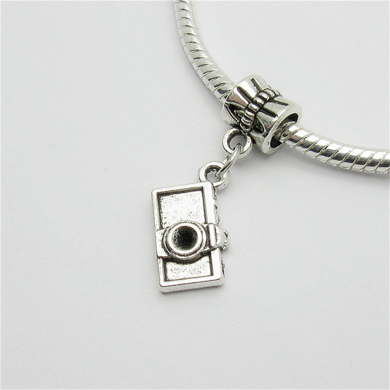 New 25pcs camera charm Big Hole bead European Pendant fit for Pandora style Bracelets Necklace DIY Metal Jewelry Making
