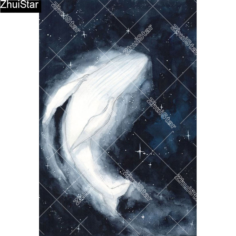 """Full Square 5D DIY Diamond Painting """"White whale"""" Embroidery Cross Stitch Mosaic Home Decor Gift     CJ28 thumbnail"""