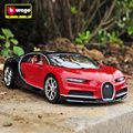 Bburago Bugatti Chiron 1:18 Scale Alloy Model  Metal Diecast Car Toys High Quality Collection Kids Toys Gift