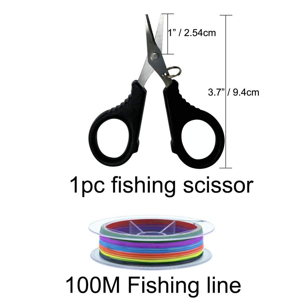 Kit d'outils combinés de canne à pêche ensemble de moulinet de canne à pêche télescopique avec ligne leurres crochets accessoires de sac de pêche - 5