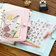 VODOOL PVC A5 A6 A7 Zipper Bag Card Bills Clips Bags Loose Leaf Storage Holder Pockets Filing Bag Stationery Supplies drop ship(China)