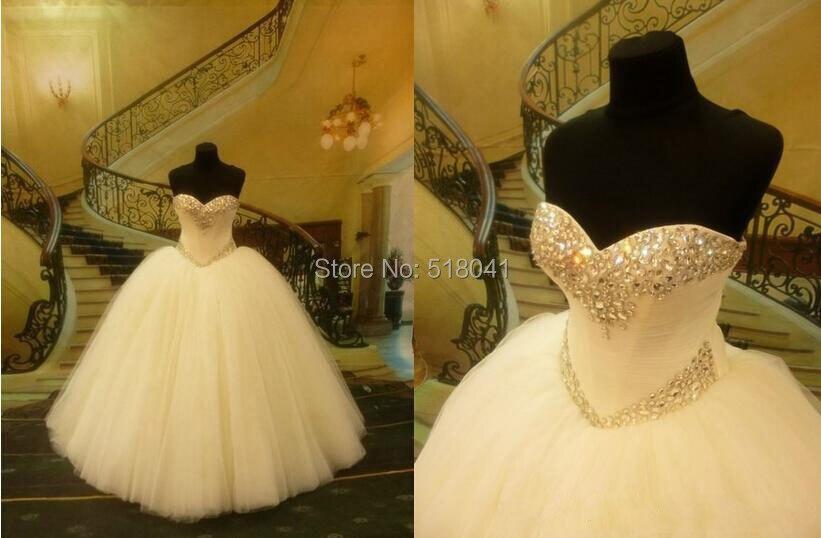 Vestidos De Novias Vintage kristall perlen Schatz weg von der ...