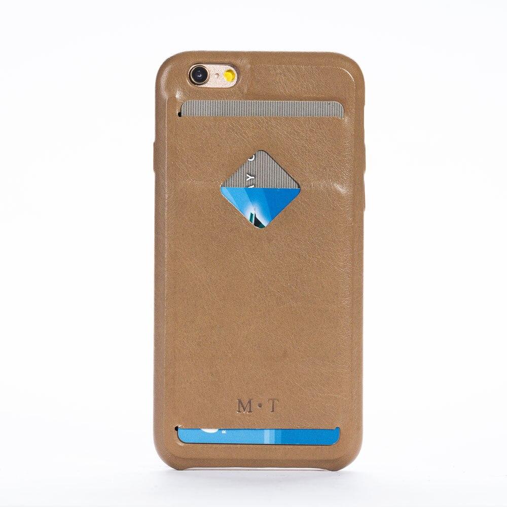 Étui en cuir de vachette solide de haute qualité pour iphone 6 6s 4.7 ''avec porte-crédit livraison gratuite