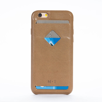High Quality Fashion Solid Cow leather iphone 6 6s Case 4.7'' with Credit Holder Free Shipping