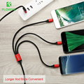FLOVEME 3 in 1 USB Cable For iPhone 8 7 X XR XS Max For Samsung Xiaomi Charging Micro USB Cable Type C Microusb USB Cables Cabel