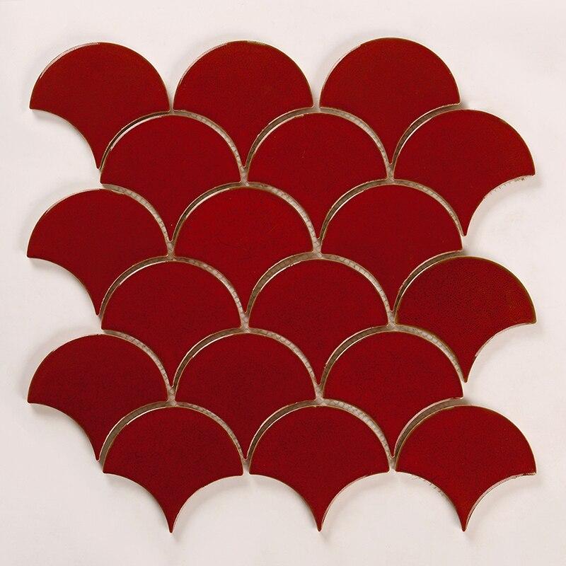 Kepinfy керамическая мозаика безопасный строительный материал сетки установлен для стены backsplashes моющиеся фарфор мозаика