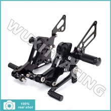 Black / Silver New CNC Billet Motorcycle Adjustable Rider Footrests Footpegs Rearsets Rear Sets for DUCATI Monster 796