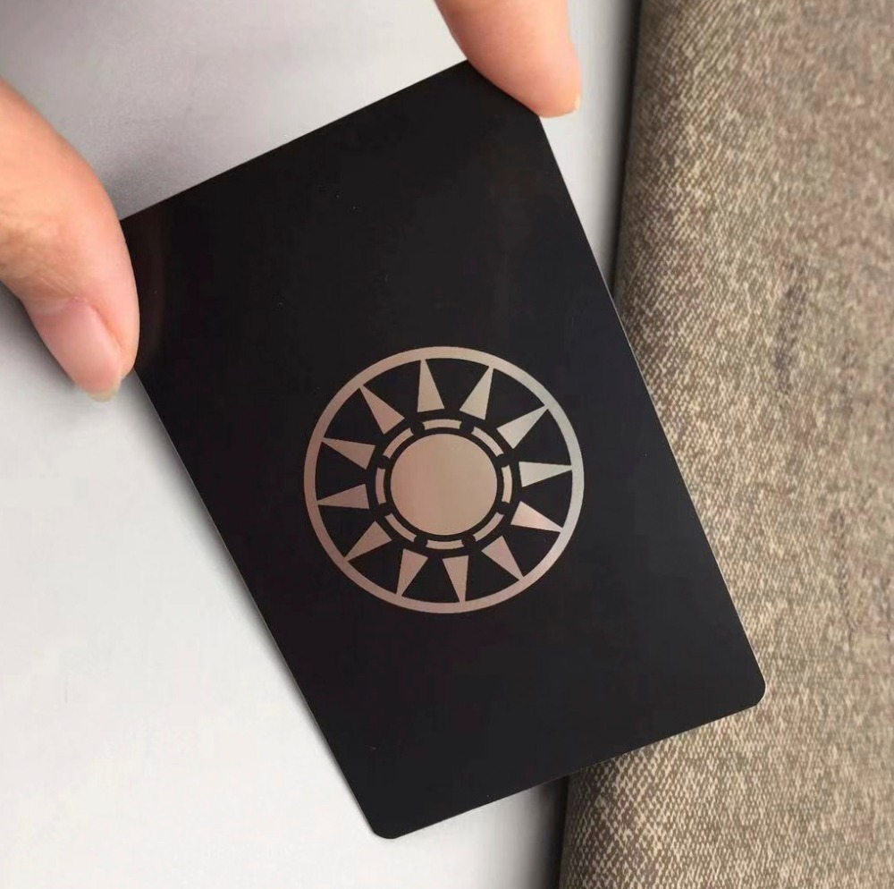 100pcs/lots Metal Business Card Printing, Business Card Metal, Black Metal Business Cards