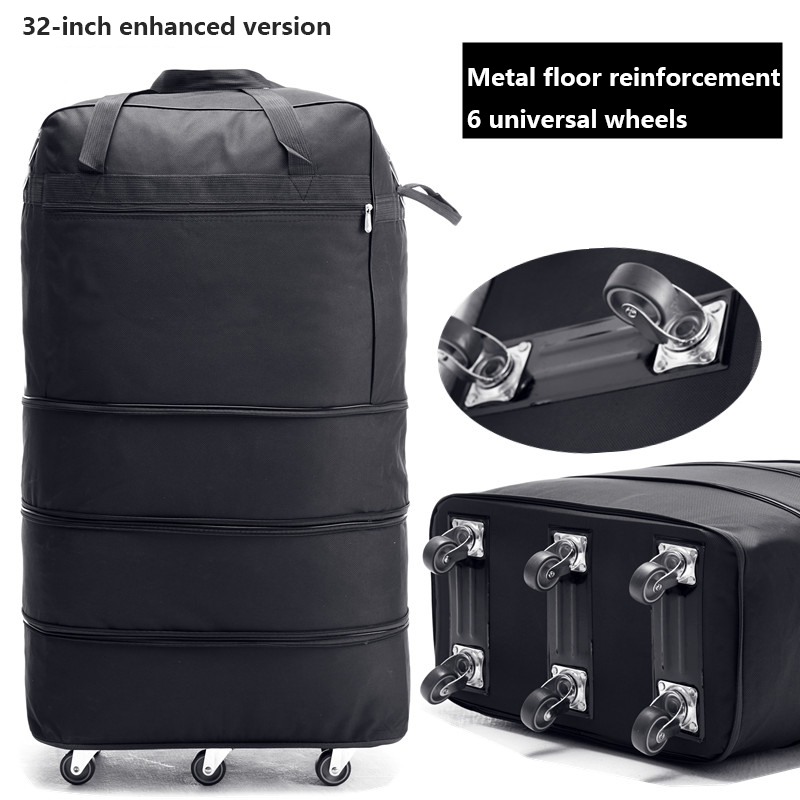 Image 4 - 158 air consignment baggage large capacity study abroad suitcase aircraft consignment Cardan wheel folding baggage-in Travel Bags from Luggage & Bags