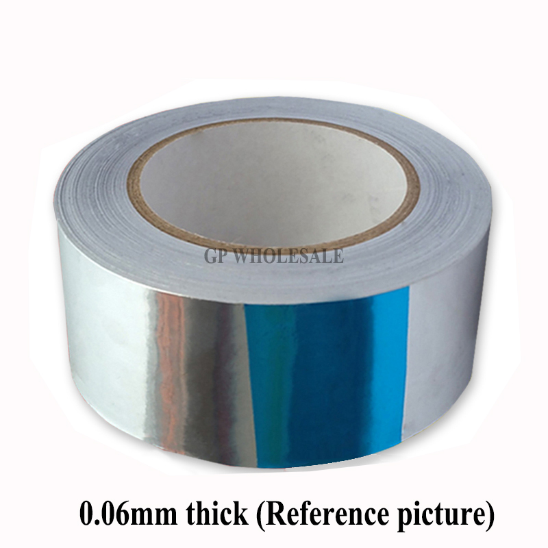 все цены на 1 Roll 80mm * 40M *0.06mm Single Sided Sticky Aluminum Foil Tape Paper for Heat Transfer, EMI Shielding, Waterproof, Sealing онлайн