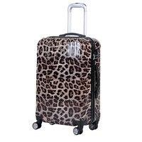 トロリースーツケース荷物ゼブラヒョウプリント韓国女