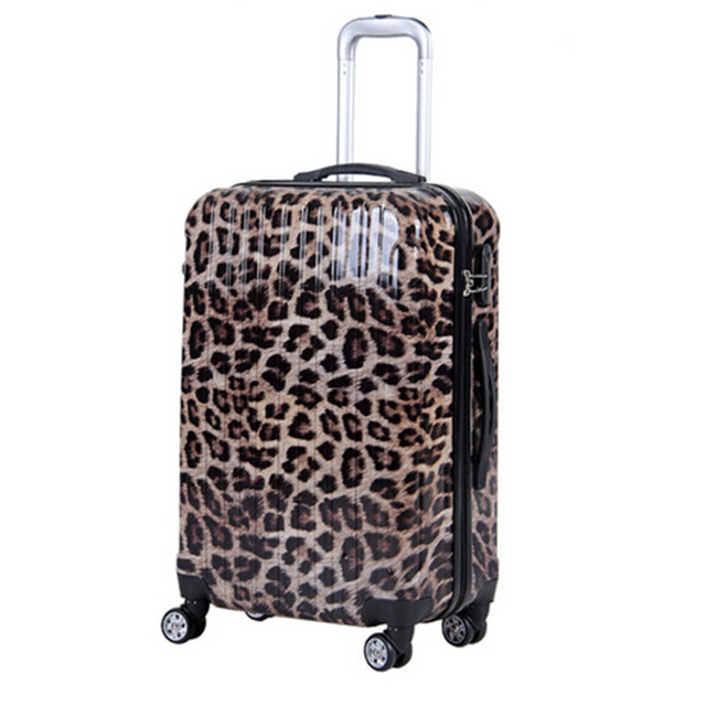 Trolley suitcase Luggage zebra Leopard Print Korean female 20/24/28 inch male boarding students valiz bag caster Travel box bags