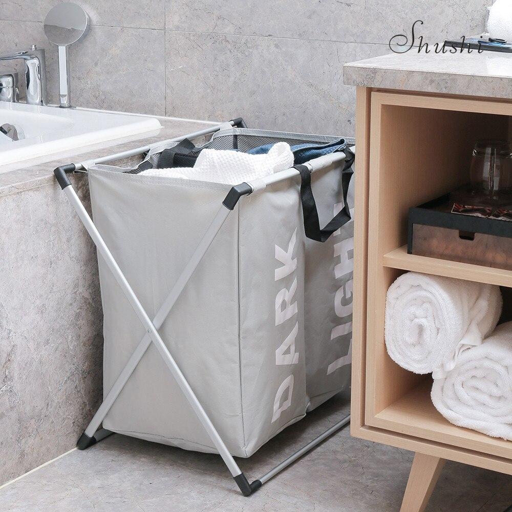 Shushi két rekeszes mosoda Kosár összecsukható otthoni tároló - Szervezés és tárolás