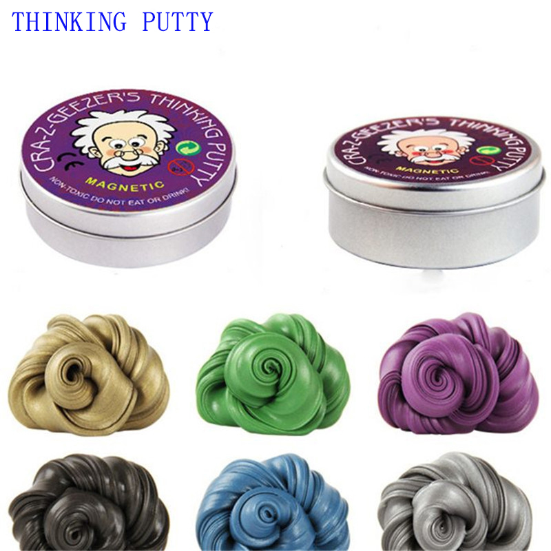 Creative Silly Putty Children Toys DIY Intelligent Magnetic Slime Clay Hot Plasticine Mud Release Clay Kids Gifts lizun Hand Gum mr silly