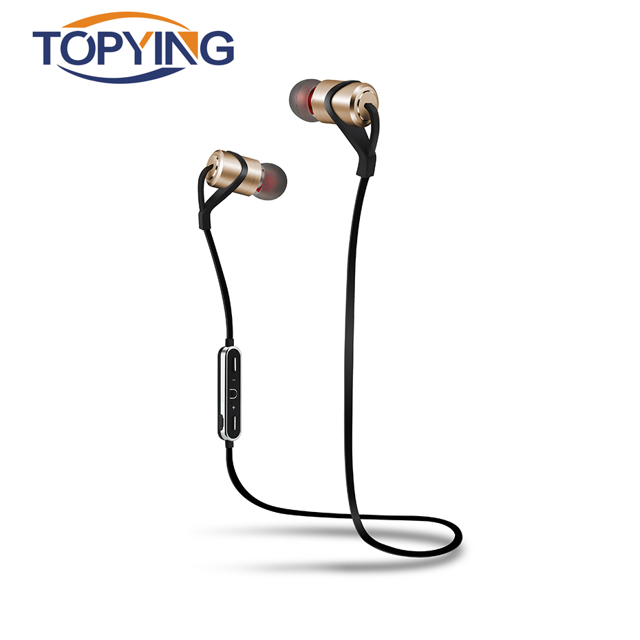 TOPYING Earphone For Sport Running Bluetooth Earphone Waterproof For Samsung Galaxy Iphone Bluetooth 4.1 Earphones With Mic