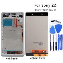 لمكونات محول رقمي لشاشة لمس LCD لهاتف Sony Xperia Z2 D6502 D6503 D6543 شاشة عرض LCD + أداة مجانية