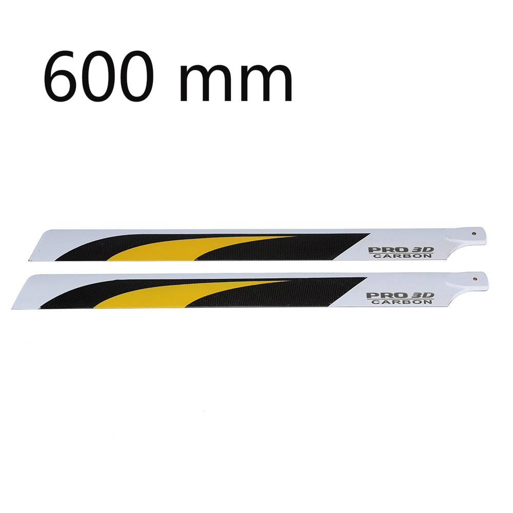 EBOYU(TM) Carbon Fiber 600mm Main Blades for Align Trex 600 RC Helicopter align trex 500dfc main rotor head upgrade set h50181 align trex 500 parts free shipping with tracking