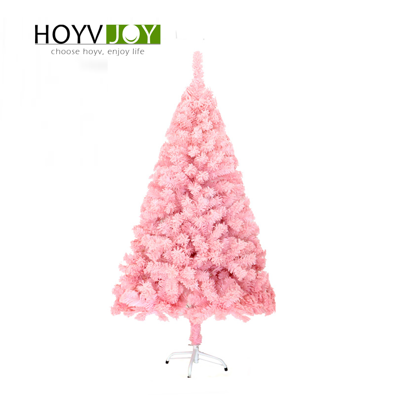 Pink Christmas Trees.Us 118 7 Hoyvjoy 210cm Flocking Pink Christmas Tree Xmas Tree New Year Decorations With Led Light And Small Decorations Wholesale Custom In Trees