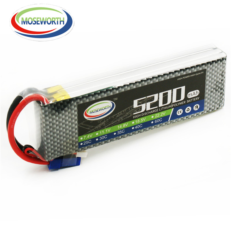 MOSEWORTH RC Lipo Battery 11.1v 3S 5200mAh 25C For RC Aircraft Quadcopter Car Boat Airplane Drones Helicopter Li-ion Battery 3S 11 1v 3s 1100mah 25c best rc drones lipo battery pack universal for rc drone