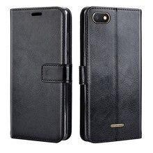 Funda de cuero de lujo para Xiaomi Redmi 6 funda abatible funda trasera del teléfono funda cartera para on Xiaomi Redmi 6 A 6 A 5,45 pulgadas