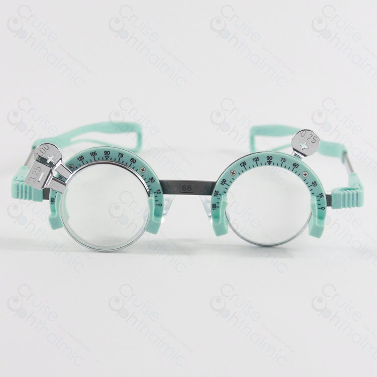 Light Weighted Half Rimmed Silicon Trial Frame TF5866H | PD range 58-66mm | Trial Lens Frame | Extra Nosepad  цены