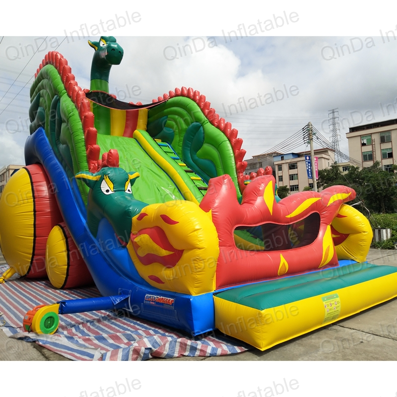 Widely used commercial sale large dragon ball inflatable slide,pvc inflatable cartoon character...