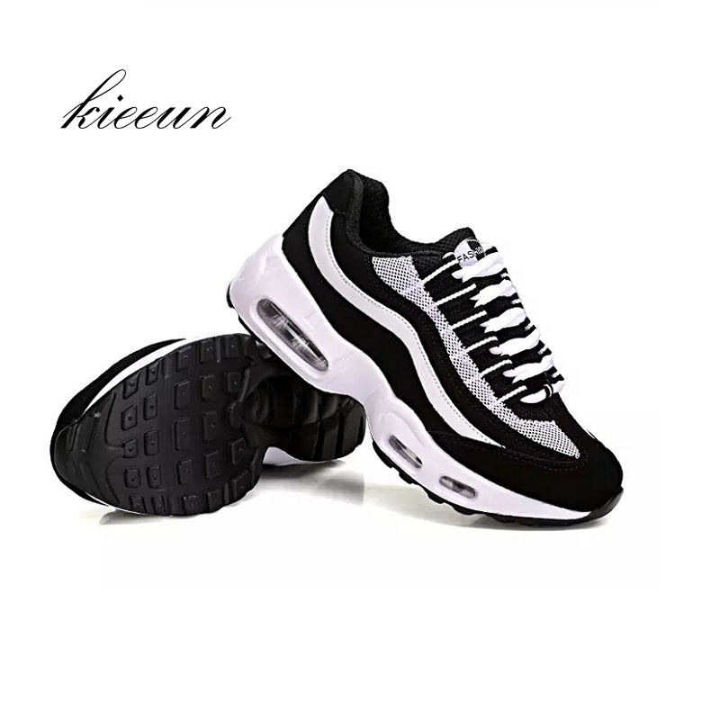 Woman outdoor sports running shoes thick bottom muffins air cushion running sports shoes girls increase outdoor travel shoes