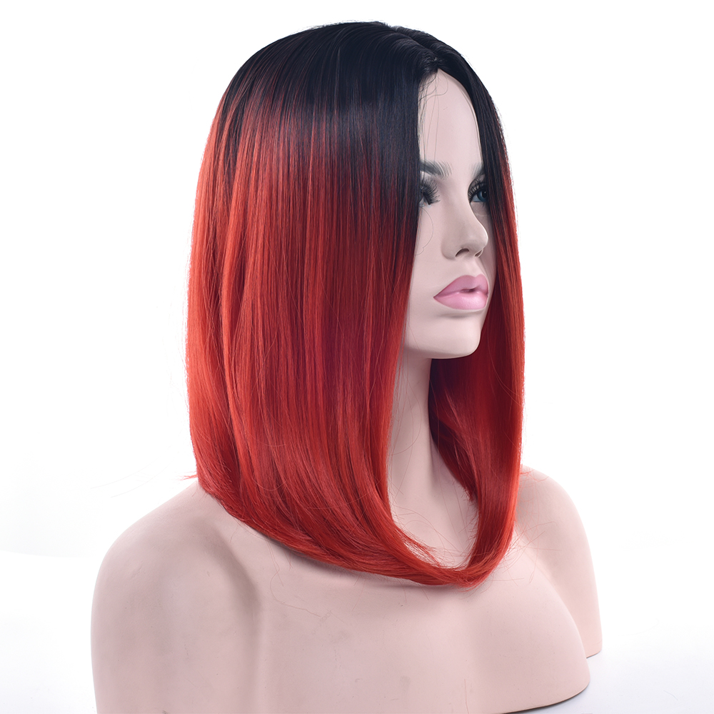 Ombre Haare Schwarz Rot Ruby Plum Hair Color 48308 Schwarz Rot