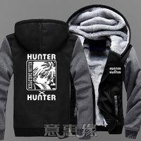 New hunter x hunter Hoodie Japan Anime Killua Zoldyck Hisoka Cosplay Jackets Coats Winter Thick Zipper Sweatshirts