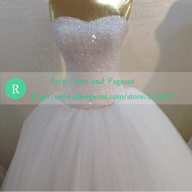 Aliexpress.com : Buy Bling Ball Gown Sweetheart Neckline Off The ...