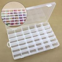 36 Ranuras de Perlas Caja de Joyas Caja de Almacenamiento de Collar Pendientes Anillos De Plástico Ajustable Caja de Almacenamiento de Contenedores de Contenedores