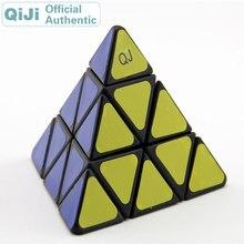 QiJi Pyraminxeds Magic Cube QJ Pyramid 3x3x3 Cubo Magico Professional Neo Speed Cube Puzzle Antistress Fidget Toys For Children 0988 qj