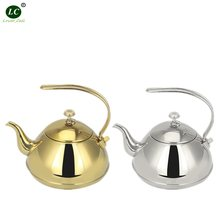 Kettle inox Teapot with Filter Stainless steel Teapot coffee pot golden/silver cold Water hotel /dining Room use(China)