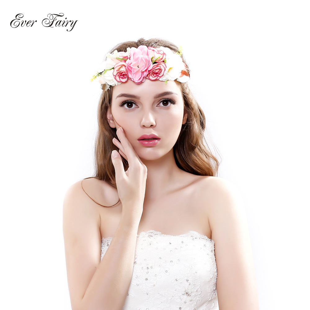 Aliexpress Buy Ever Fairy Bride Flower Headband Wedding Rose