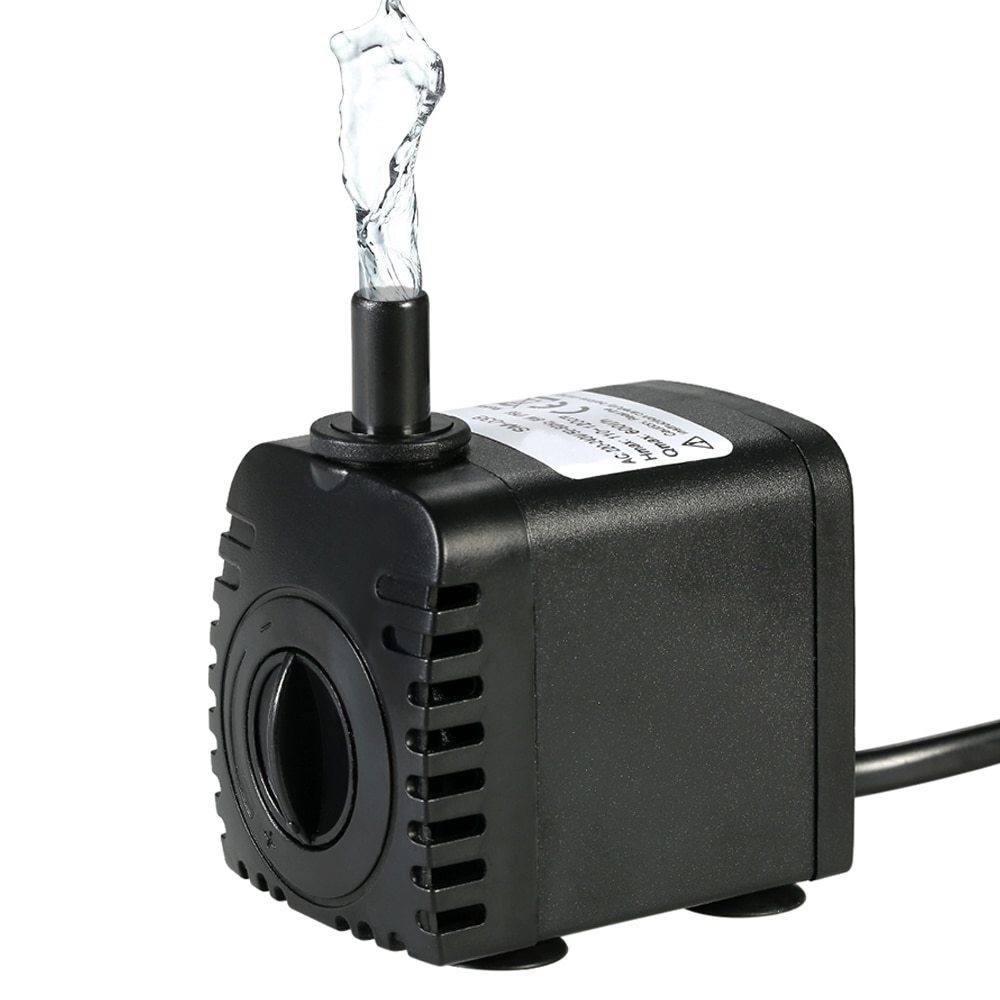 600L H 8W Fountain Water Pump Submersible Water Pump Fountains For The Pond Aquarium Pumps Tabletop